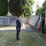 25 aprile, il sindaco ha deposto una corona al Museo del Risorgimento e della Resistenza